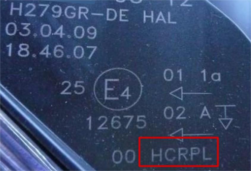 E-Mærke på lygte uden D-Mærke til Xenon